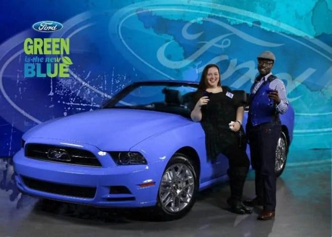 L-R: Mustang, Christine Pantazis, me