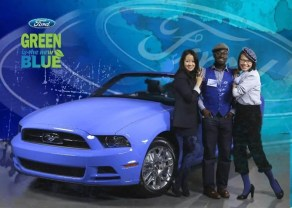 L-R: Ford Mustang, Rosie, me, Cammi Pham
