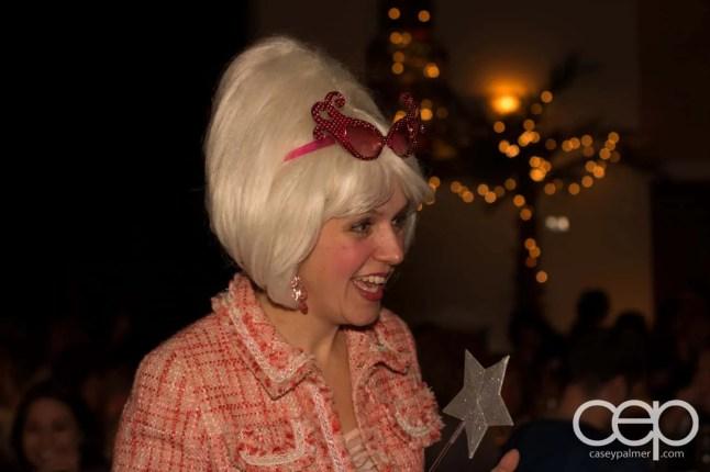 The Fairy Godmother (Barb Scheffler) in mid-conversation
