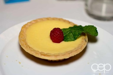 A key lime tart at Mysteriously Yours... Mystery Dinner Theatre