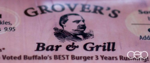 America — Grover's Bar & Grill Logo on the Menu
