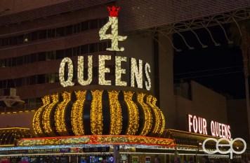 The 4 Queens Hotel & Casino in old Las Vegas