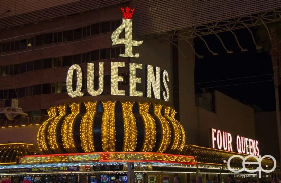 The 4 Queens Hotel & Casino in old Las Vegas