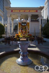 Chinese New Year decorations at the Caesar's Palace Hotel & Casino