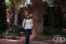 My wife, Sarah, at the Wildlife Habitat in the Flamingo Hotel & Casino in Las Vegas