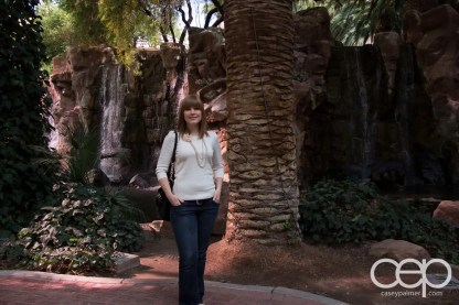 My wife, Sarah, at the Wildlife Habitat in the Flamingo Hotel & Casino in Las Vegas