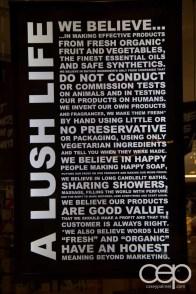 The Lush manifesto as