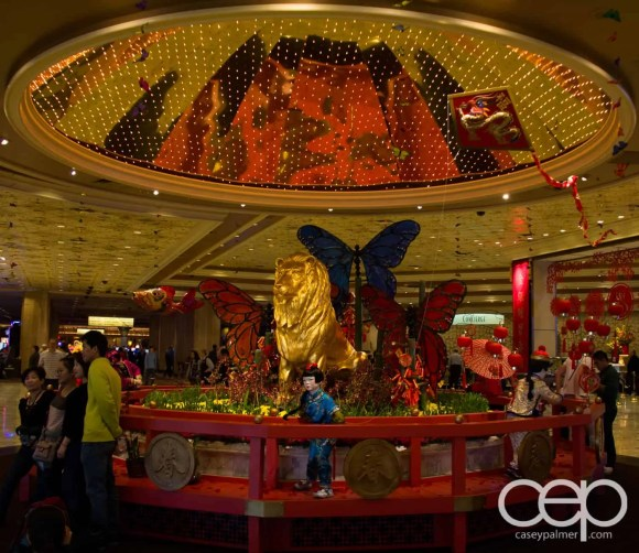 Chinese New Year decorations at the Bellagio Hotel & Casino in Las Vegas