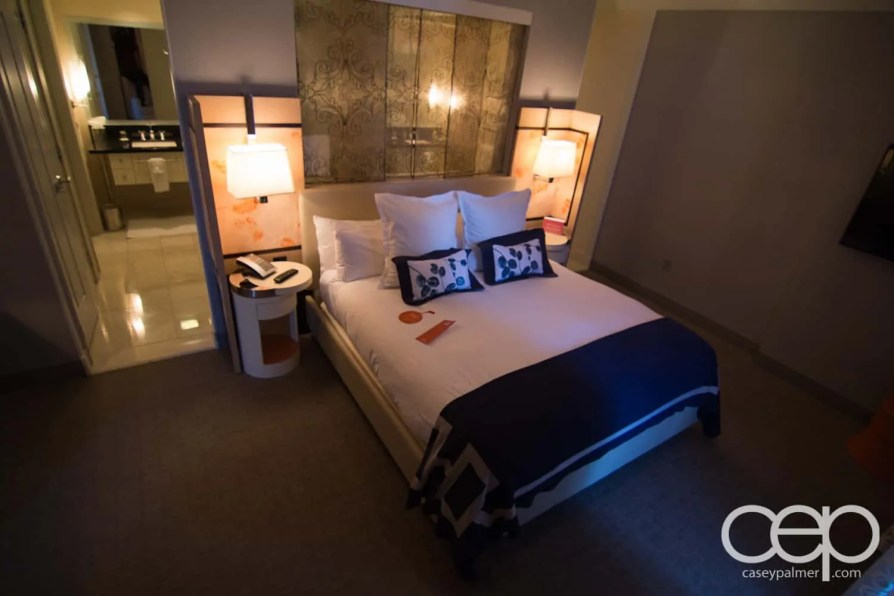 The Cosmopolitan Wraparound Terrace Suite — Bedroom —