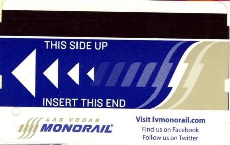 Las Vegas Monorail Ticket
