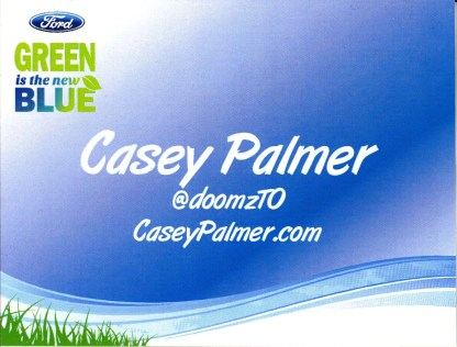 My attendee badge for the Ford Blue Party