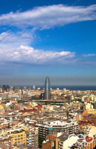 A bird's-eye view of Barcelona, Spain