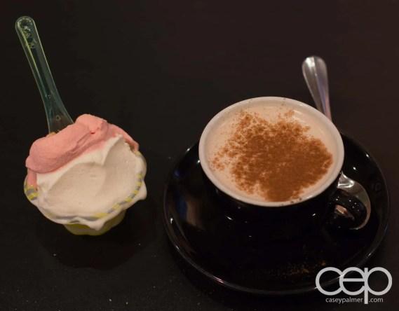 G... for Gelato and Espresso Bar — Chai Latte and Ricotta Pear/Blood Orange Gelato