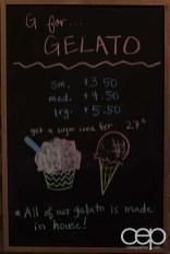 G... for Gelato and Espresso Bar — Gelato Signboard