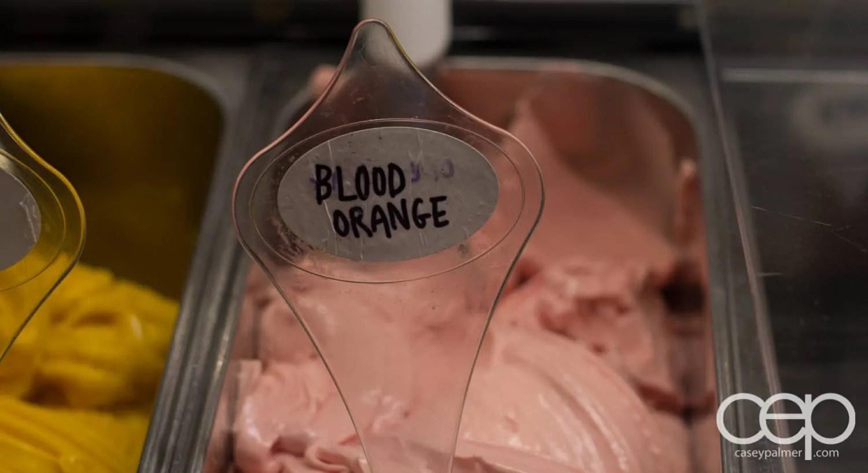 G... for Gelato and Espresso Bar — Blood Orange Flavour