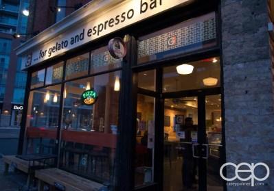 G... for Gelato and Espresso Bar — Exterior Shot