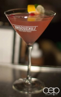 The Martini House — Venus Butterfly — Ingredients: SKYY vodka, X-Rated fusion liqueur, gin, sour lime, white cranberry