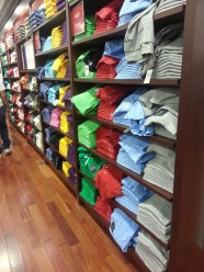 Many colours of polo shirts at the Ralph Lauren Polo store in the Las Vegas Premium Outlets North