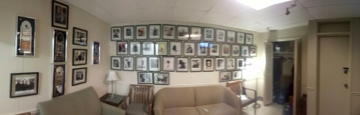A panoramic shot of the CTV Green Room where you wait before you go on set.