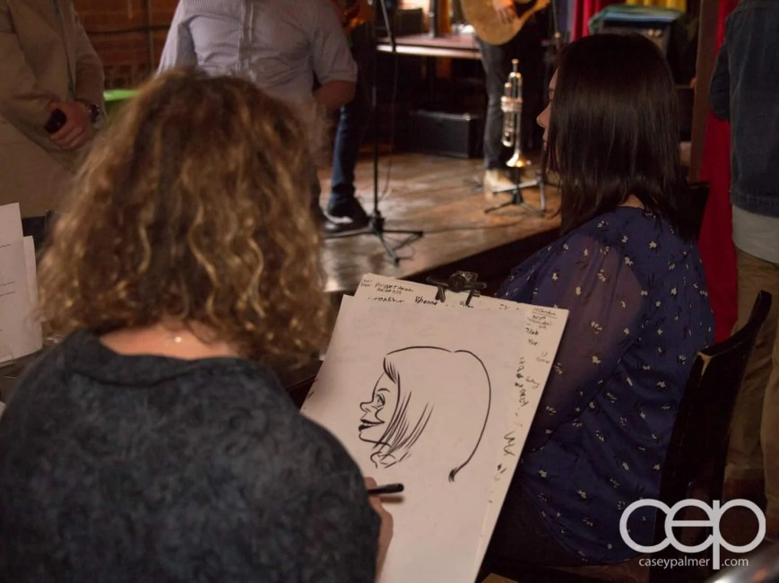 After Work Drinks Toronto 8 — #AWDTO — Valerie White sketching Pauline Grant