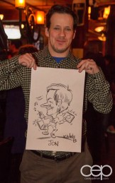 After Work Drinks Toronto 8 — #AWDTO — Jon Gauthier with his caricature