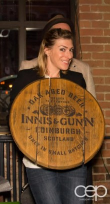 After Work Drinks Toronto 8 — #AWDTO — Amanda with the Innis & Gunn barrel top