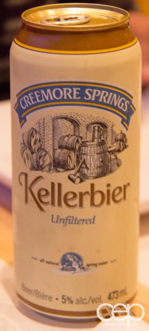 A can of Creemore Springs Kellierbier at Karelia Kitchen