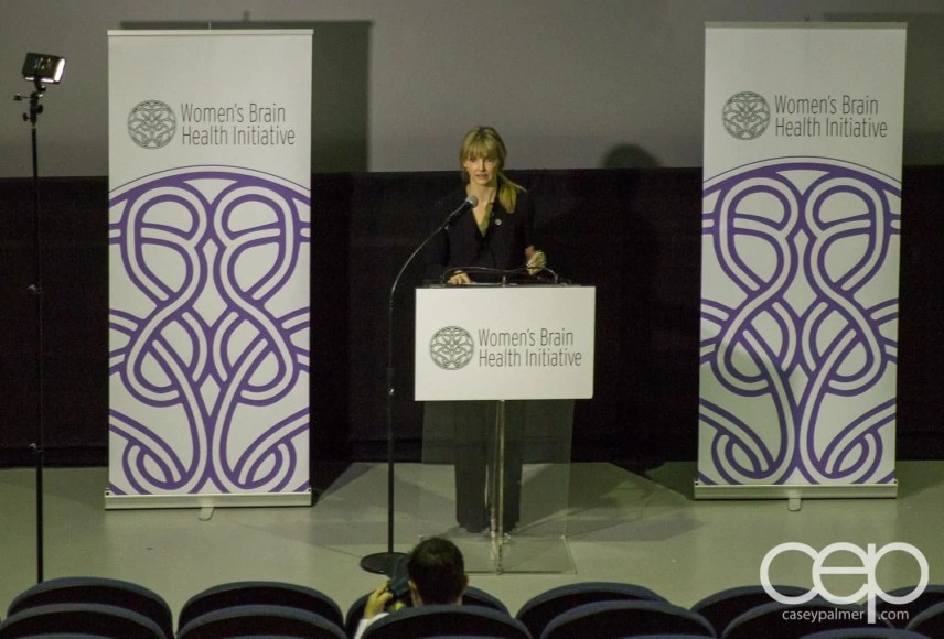 Introductory comments by Kirstine Stewart at the Women's Brain Health Initiative launch party.
