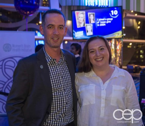 Michael McGowan and Christine Pantazis at the Women's Brain Health Initiative launch party.