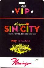 Bloggers in Sin City — VIP Lanyard