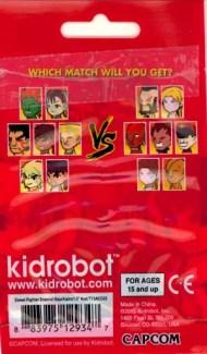 BiSC and Las Vegas 2013 — Cosmopolitan — Kid Robot — Street Fighter Enamel Keychain — Packaging Rear