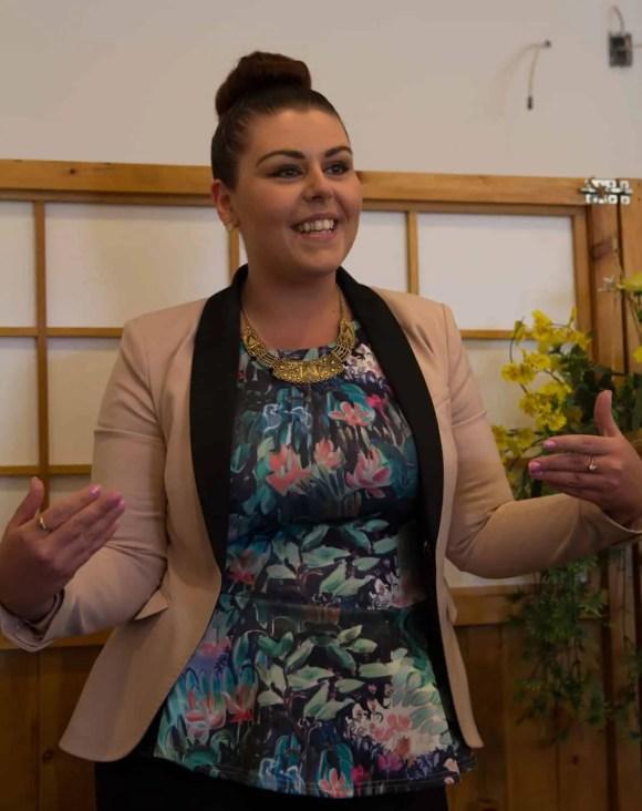 Scarborough Dishcrawl II — Gu-Mi — Jennifer Thompson welcoming the Dishcrawl attendees