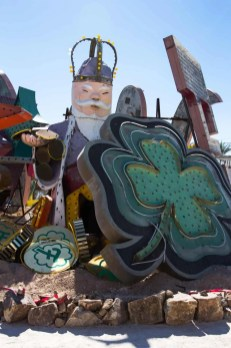 BiSC and Las Vegas 2013 — The Neon Museum — The King from the Coin Castle + Shamrock from the Fitzgeralds Casino