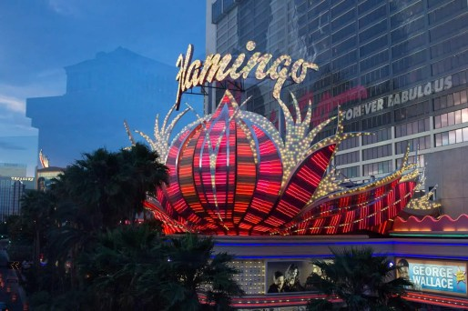 BiSC and Las Vegas 2013 — The Flamingo — The sign for The Strip