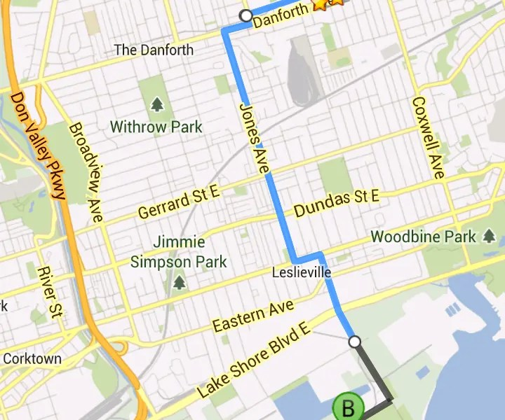Horrible map to 275 Unwin Ave