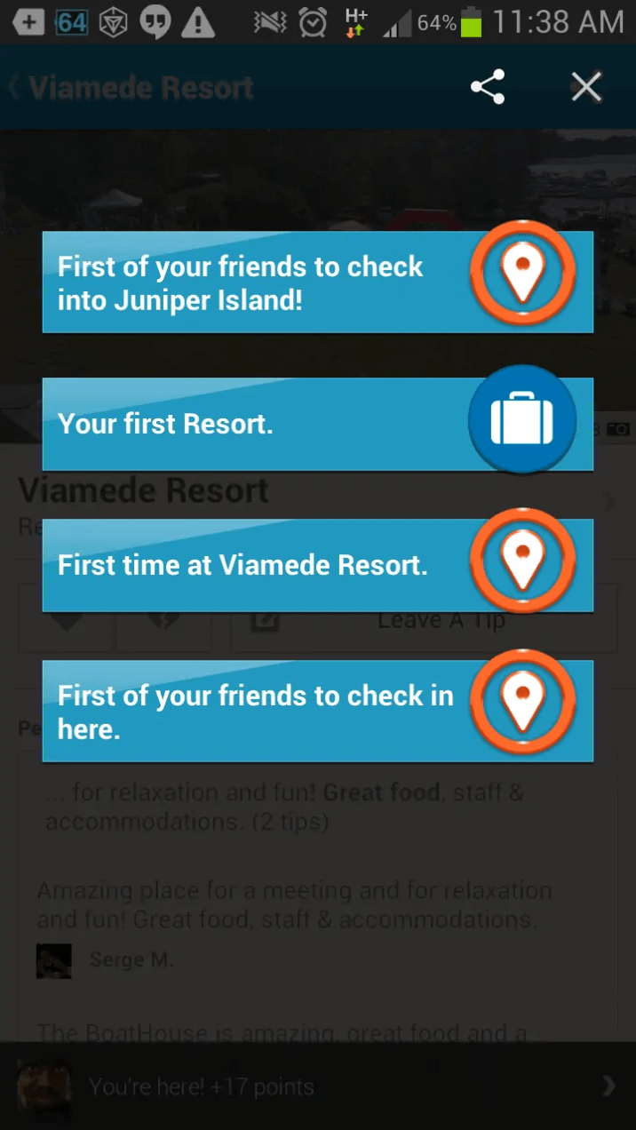 Viamede Resort & Dining — Awesome Foursquare Check-in