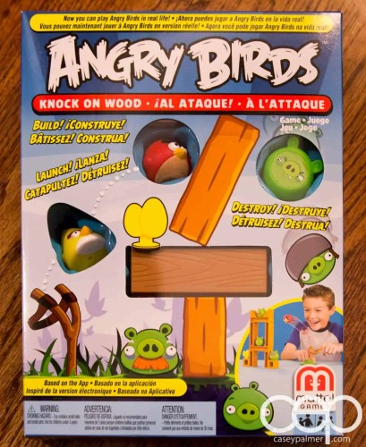 The Angry Birds Game I received in my Mattel Game On! box.