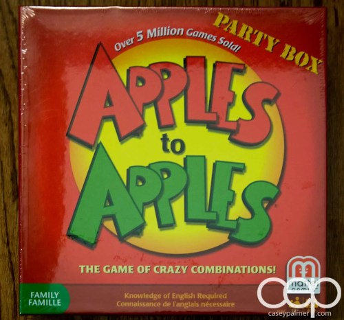 The Apples to Apples game I received in my Mattel Game On! box.