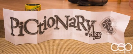 Mattel Game On! Gameology — Pictionary Dice Game — Instructions