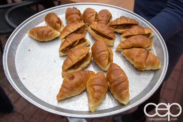 TacoTweetup — Chicken and Mole Croissants