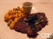 Viamede Resort & Dining — The Inn at Mount Julian — 10oz Grilled Ribeye with House-Made Gnocchi, Summer Vegetables and Bacon Jam