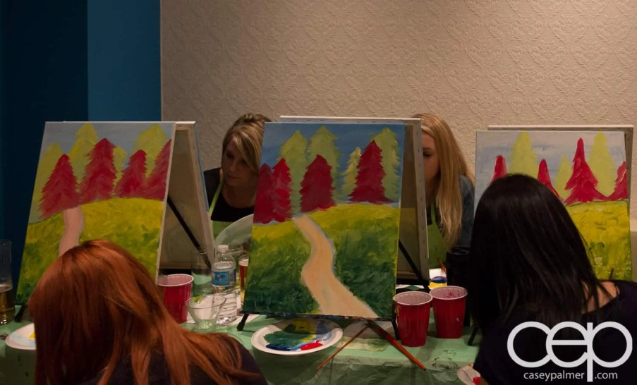 #BuytopiaPaintNite — Paint Nite Toronto — Banu — Works in Progress