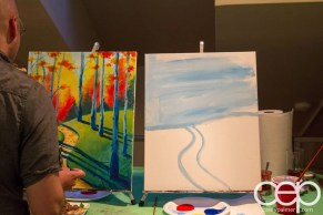 #BuytopiaPaintNite — Paint Nite Toronto — Banu — Initial steps