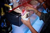 #BUYogurtys — Buytopia.ca and Yogurty's — Grand Opening 875 Eglinton Avenue West — Toppings in Action