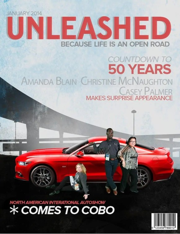 #FordNAIAS 2014 — Day 2 — Cobo Hall — North American International Auto Show — Ford Motor Company — Ford Blue Card — Mustang Magazine Cover