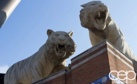 #FordNAIAS 2014 — Day 3 — 2014 Ford Focus Test Drive — Comerica Park — Tigers on the Roof