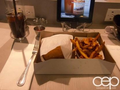 #FordNAIAS 2014 — Day 1 — Toronto Pearson International Airport — Nobel Burger Bar — One Burger