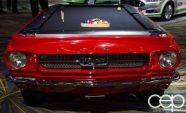 #FordNAIAS 2014 — Day 2 — Cobo Hall — Behind the Blue Oval — Ford Mustang Pool Table