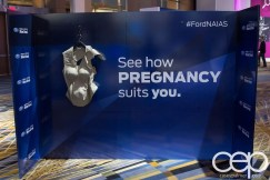 #FordNAIAS 2014 — Day 2 — Cobo Hall — Grand Rivierview Ballroom — Behind the Blue Oval — Safe — See how PREGNANCY suits you.