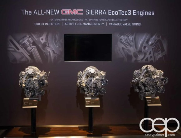 #FordNAIAS 2014 — Day 2 — Cobo Hall — North American International Auto Show — GMC — The All-New GMC Sierra EcoTec3 Engines